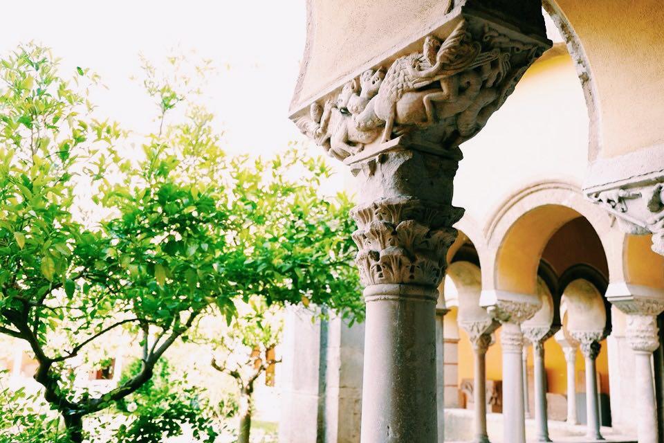Pillar in the Museo del Sannio
