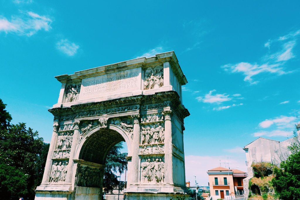 The Arch of Trajan on the Via Appia in Benevento.
