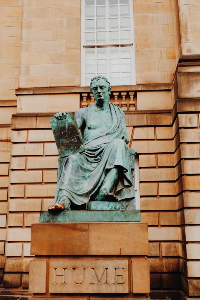 Statue of David Hume on the Royal Mile Edinburgh