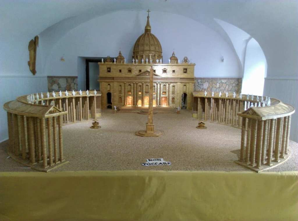 Sculpture made from grains for the festival of st Anne in Jelsi