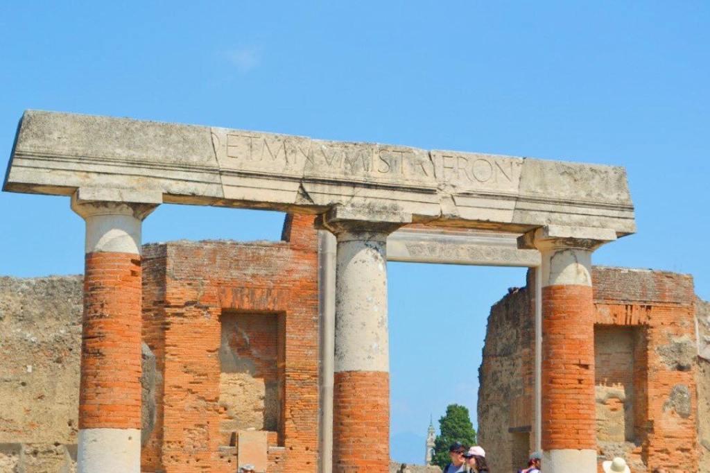 Temple in the forum of Pompeii.