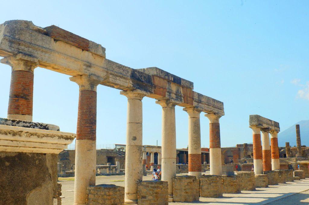 Columns in the forum of Pompeii.