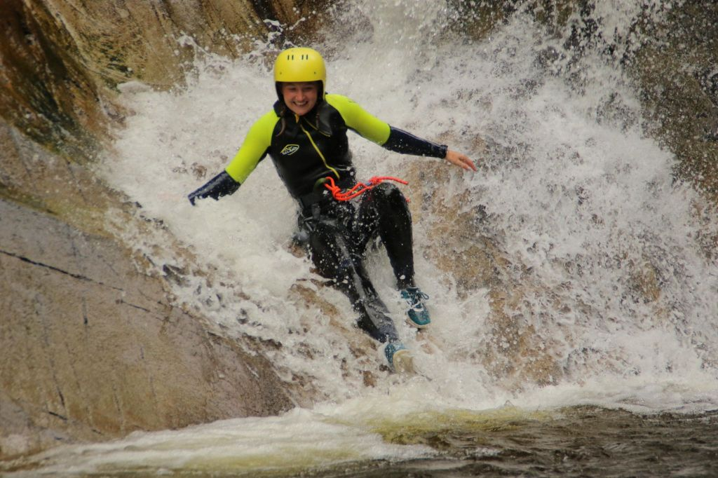 Canyoning the Falls of Bruar with Nae Limits