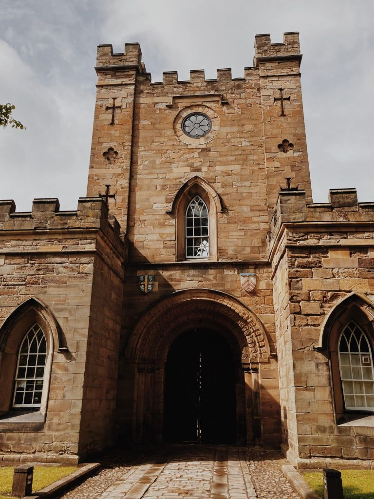 The entrance to Durham Castle in Durham City